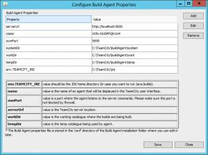 Konfiguracja build agenta