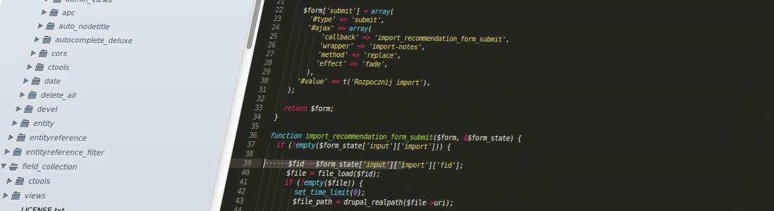 Drupal i import danych z pliku XML zawierającego
